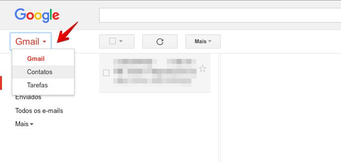 473db4364 Acesse os contatos do Google (Foto  Reprodução Helito Bijora)