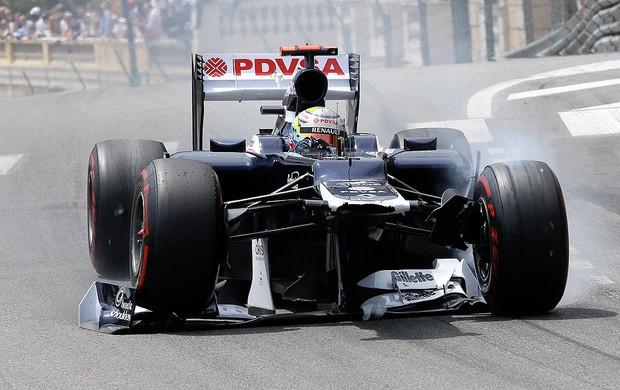 GP de Mônaco, F1, Pastor Maldonado (Foto: Agência AP)