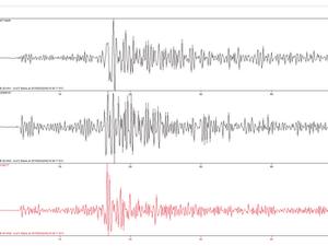 Registro de abalo sísmico em Caruaru (Foto: Divulgação/ LabSis/UFRN)