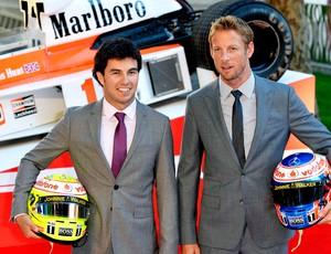 Button e Sergio Perez lançamento filme  Rush (Foto: Reuters)