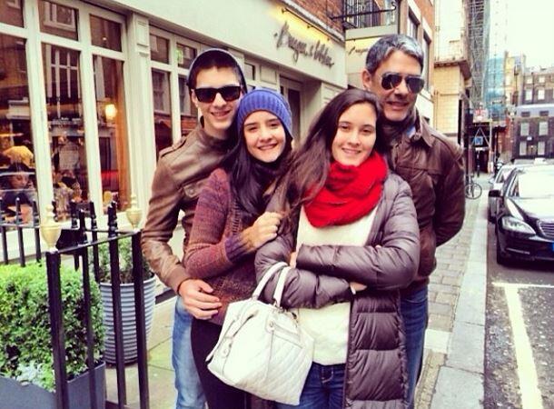 Willian Bonner e os filhos (Foto: Instagram / Reprodução)
