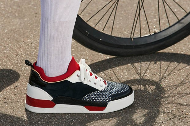 "Christian Louboutin's new line of sneakers for men, ""Aurélien"" (Foto: PITTI IMMAGINE)"