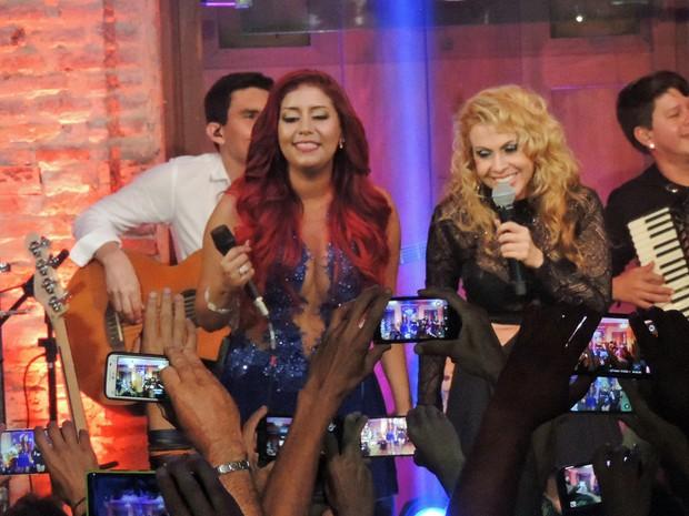Joelma gravou participação em DVD da banda Musa e afirmou que era o primeiro passo da carreira solo (Foto: Katherine Coutinho / G1)