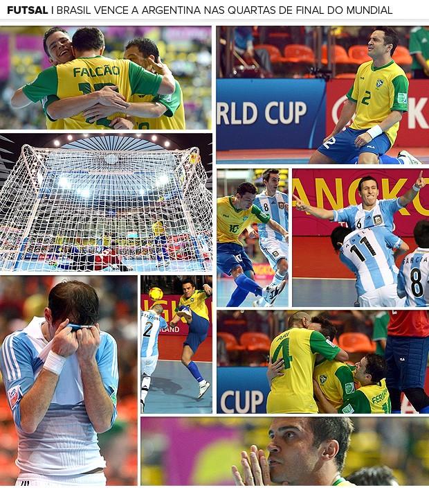 Galeria Brasil vence Argentina Futsal (Foto: Editoria de Arte / Globoesporte.com)