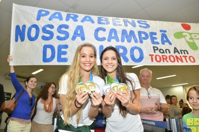 Ana Paula Ribeiro e Emanuelle Lima (Foto: Guilherme Ferrari/A Gazeta)
