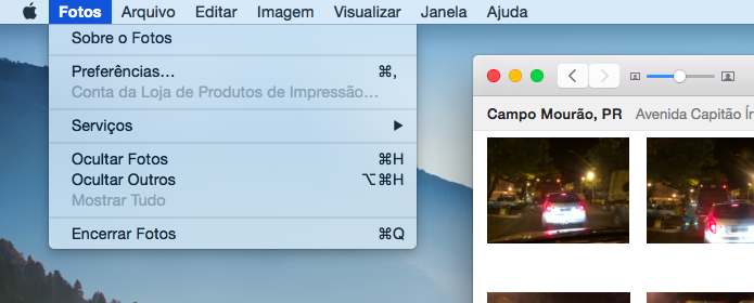 Acesse as configurações do aplicativo Fotos (Foto: Reprodução/Helito Bijora)