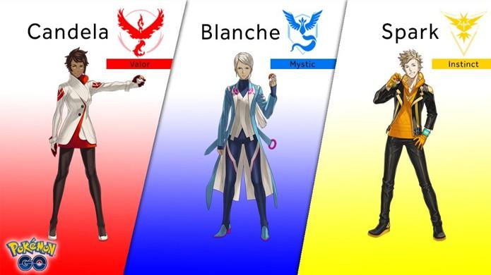 Pokémon Go revela os novos líders Candela, Blanche e Spark dos times do game (Foto: Reprodução/Kotaku)
