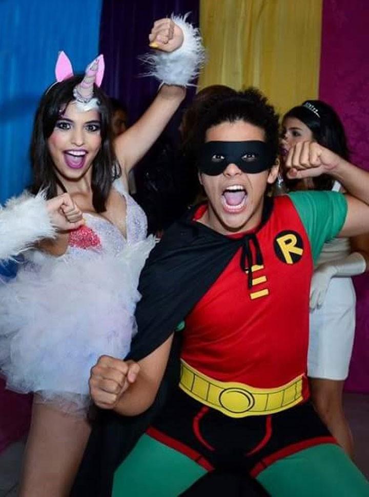 Cynthia e Paulo Hebrom curtindo a festa (Foto: Fabiane Borges/Arquivo Pessoal)