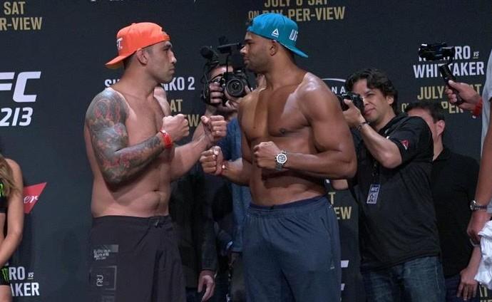 Fabricio Werdum Alistair Overeem UFC 213 Encarada e Pesagem  (Foto: Evelyn Rodrigues)
