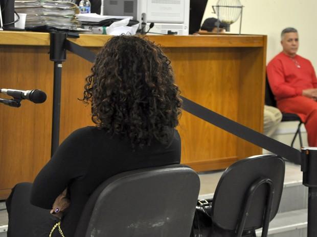 Delegada Ana Maria Santos é ouvida como informante no Júri de Marcos Aparecido dos Santos, no Fórum de Contagem (Foto: Renata Caldeira / TJMG)