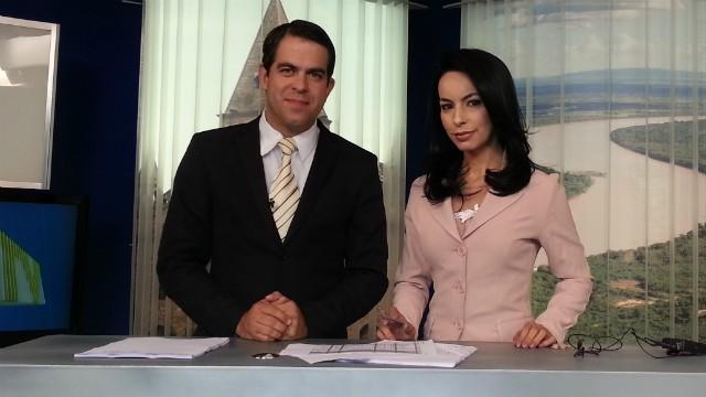 Délio Pinheiro e Maira Botelho apresentam o MG Inter TV 1ª Edição (Foto: Nicole Melhado / Inter TV MG)