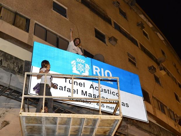 Cissa Guimarães e João Velho em reinauguração do túnel Acústico Rafael Mascarenhas na Zona Sul do Rio (Foto: André Muzell/ Ag. News)