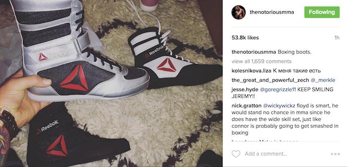 BLOG: Em meio a rumores de luta com Floyd, McGregor posta foto de tênis de boxe