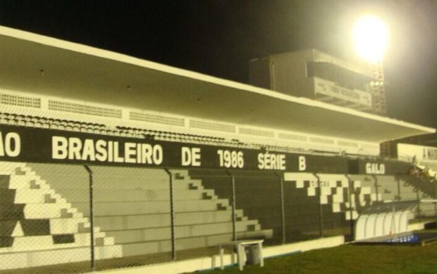Estádio Presidente Vargas, do Treze - teste dos refletores (Foto: Divulgação / Treze)