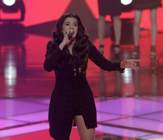 Amanda Lince canta 'É com ela que estou' (Foto: Artur Meninea/Gshow)