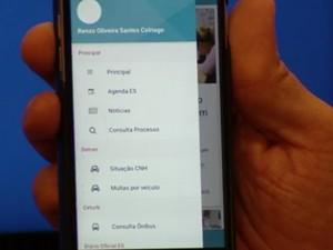 Governo do estado lança app para acesso a serviços públicos (Foto: Reprodução/ TV Gazeta)