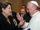Dilma será recebida pelo Papa Francisco no Vaticano