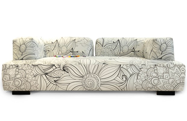 Sofá para colorir, da Bell'Arte (Foto: Reprodução)