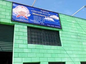 A fachada da Igreja Assembléia de Deus Ministério Gerezim, em Sumaré (Foto: Marcello Carvalho/G1)