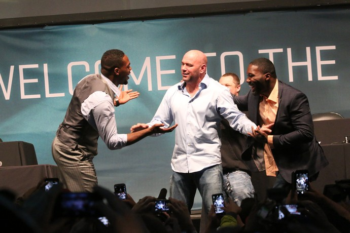 Dana white Jon Jones ANthony Johnson (Foto: Evelyn Rodrigues)