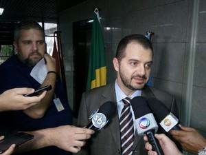 Delegado Marco Antônio, da Delegacia de Segurança Institucional da PF (Foto: Derek Gustavo/G1)