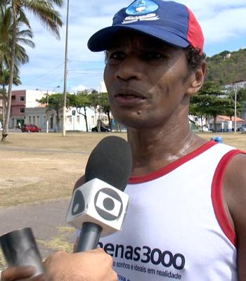 Zezito, maratonista (Foto: Reprodução/TV Gazeta)