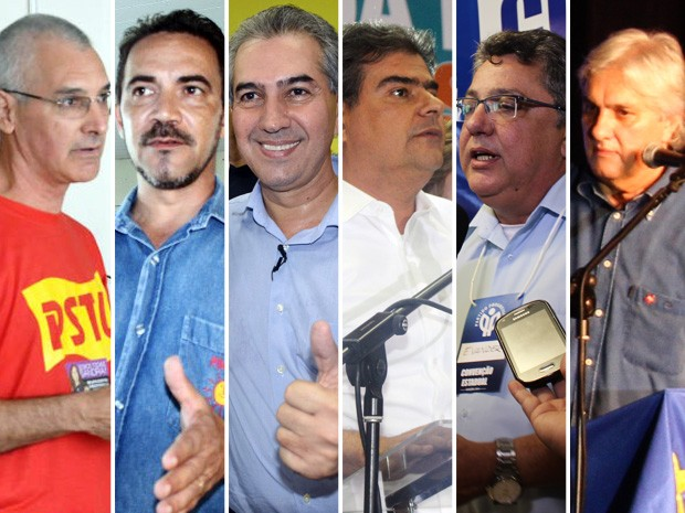 Candidatos ao governo de MS (Foto: Editoria de Arte/G1 MS)