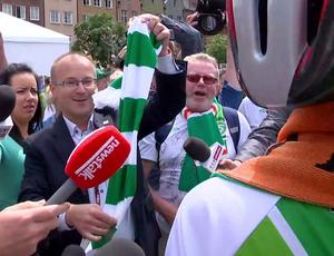 ciclistas eurocopa sportv news (Foto: Reprodução SporTV)