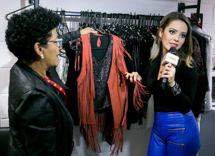 Sandy destaca figurino com franjas usado na Audição 4 e indica: 'É tendência' (Foto: Isabella Pinheiro/Gshow)