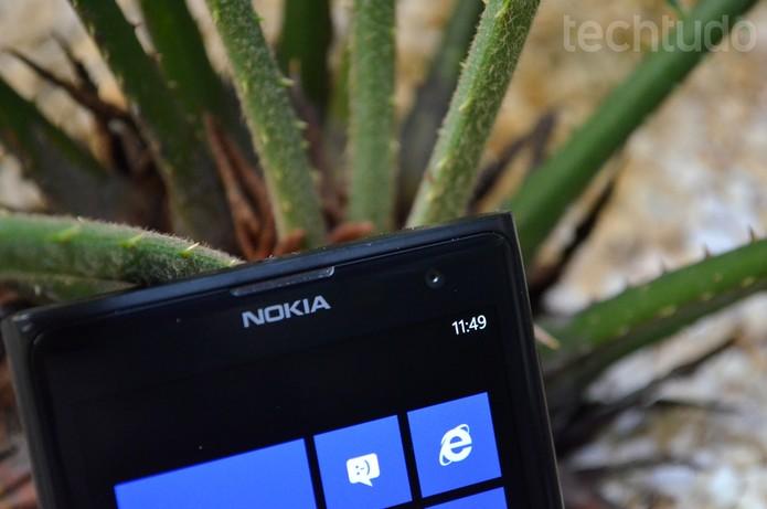Lumia 1020 - Câmera Frontal (Foto: Luciana Maline/TechTudo)