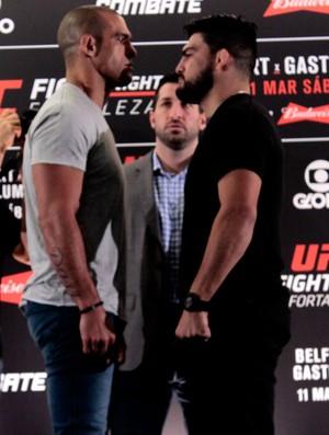 Encaradas do Media Day do UFC Fortaleza Vitor Belfort x Kelvin Gastelum (Foto: Adriano Albuquerque)