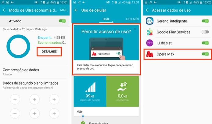 Permita o acesso do Opera Max aos dados (Foto: Reprodução/Aline Batista)