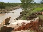 Prefeitura aciona Defesa Civil por causa de ponte levada pela chuva