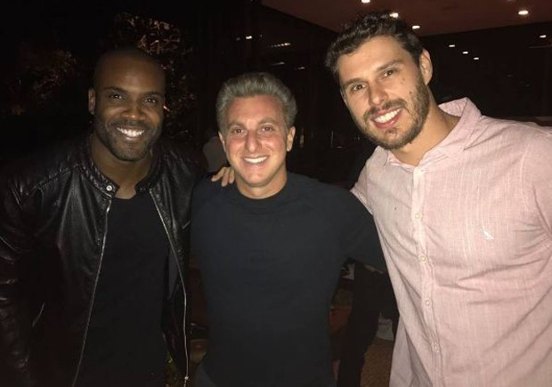 Rafael Zulu, Luciano Huck e Bruninho (Foto: Reprodução/Instagram)