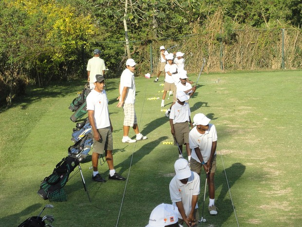 Criado em 2001, o Japeri Golfe tem um projeto social que treina jovens da Baixada Fluminese (Foto: Divulgação/Gesto Comunicação)