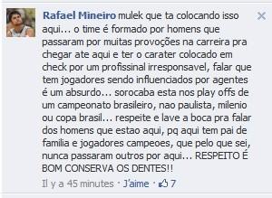 Mineiro - Liga Sorocabana - facebook (Foto: Reprodução / arquivo pessoal)