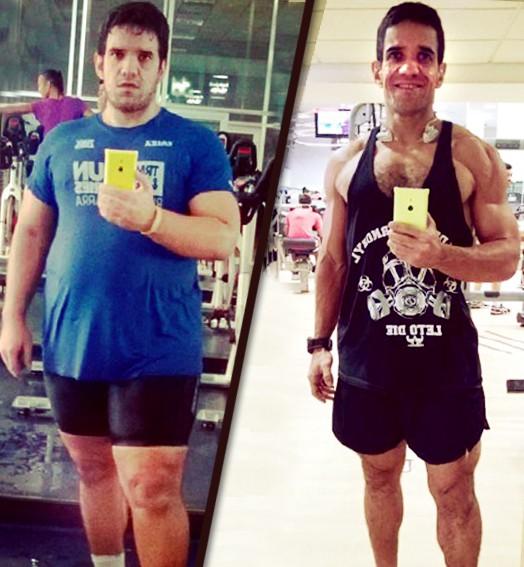antes e  depois (Eu Atleta)