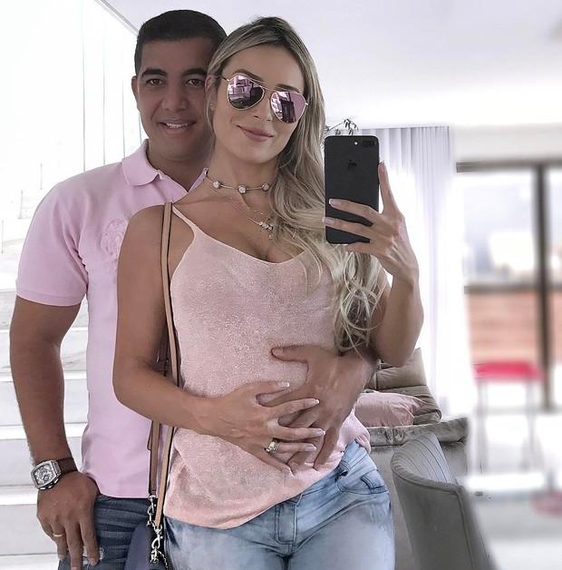 Letícia Santiago e o marido, Miguel (Foto: Reprodução/Instagram)