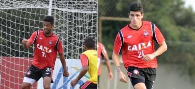 Renato Chaves e Dráusio, zagueiros do Atlético-PR (Foto: Site oficial do Atlético-PR/Divulgação)
