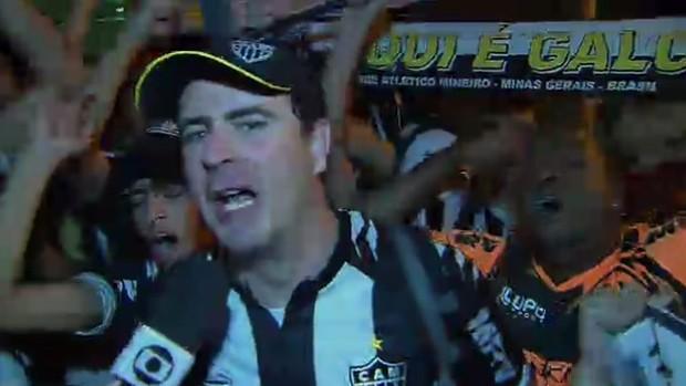 """Faixa """"Aqui é Galo"""" (Foto: Reprodução/SporTV)"""