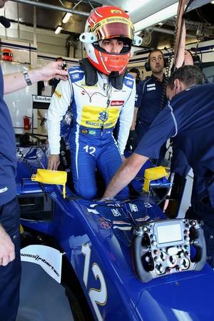 Felipe Nasr na Sauber durante treinos para o GP da Inglaterra (Foto: Divulgação)