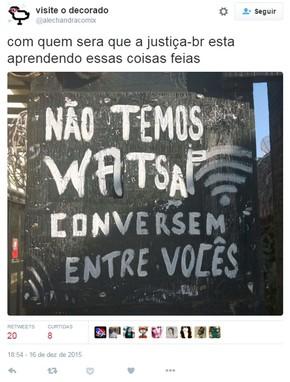 Inês Brasil chama seu advogado em meme do Twitter após proibição do WhatsApp no Brasil (Foto: Reprodução/Twitter/@alechandracomix)