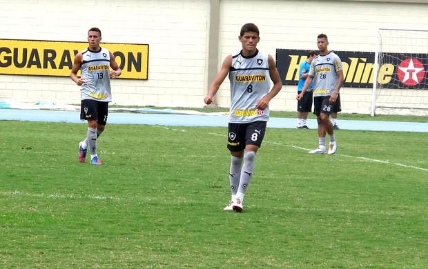 Jadson e Gabriel no treino do Botafogo (Foto: Raphael Marinho / Globoesporte.com)