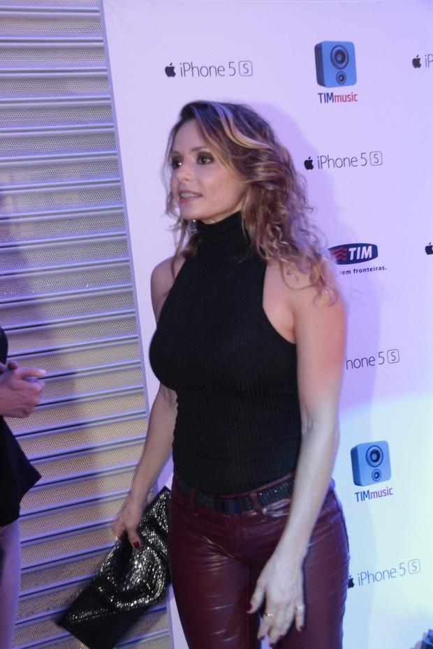 Rita Guedes em evento em shopping na Zona Oeste do Rio (Foto: Isac Luz/ EGO)