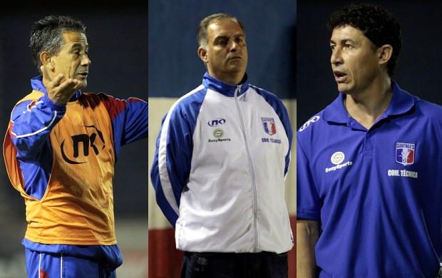 Altair Ramos, Carlos Octávio, Betinho, interinos Guaratinguetá (Foto: Montagem/ GLOBOESPORTE.COM)