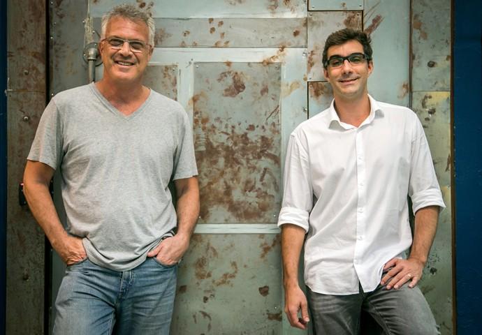 Apresentador e diretor do BBB, Pedro Bial e Rodrigo Dourado, contam as novidades da nova edição (Foto: Paulo Belote/TV Globo)