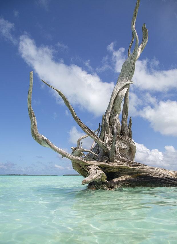 Praia dos Bilionários, na Polinésia Francesa: recanto de Leonardo  Di Caprio (Foto: Rogério Voltan)