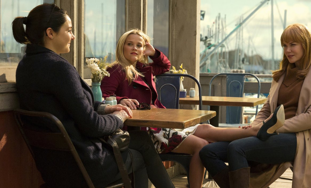 Shailene Woodley, Reese Witherspoon e  Nicole Kidman em 'Big little lies' (Foto: Divulgação/HBO)