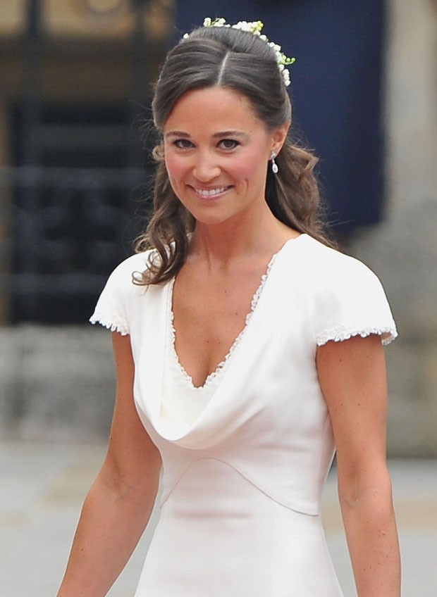 LONDON, ENGLAND - APRIL 29:  Sister of the bride and Maid of Honour Pippa Middleton arrives to attend the Royal Wedding of Prince William to Catherine Middleton at Westminster Abbey on April 29, 2011 in London, England. The marriage of the second in line  (Foto: Getty Images)