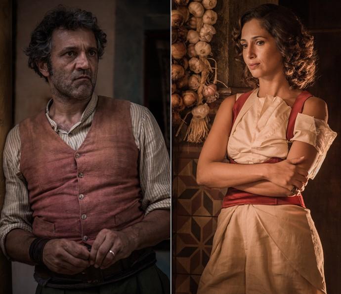Domingos Montagner assume o papel de Santo e Camila Pitanga será Tereza na segunda fase da trama  (Foto: Caiuá Franco/TV Globo)